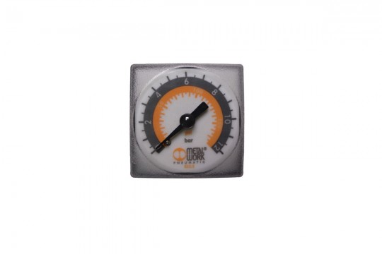"Manometer 40x40 mm 0-12 bar 1/8"" BSP"
